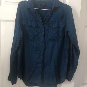 J. Crew navy blue lightweight button down shirt